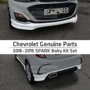 Genuine OEM Parts Front Side Rear Body Kit Set White For Chevrolet 2018-19 Spark