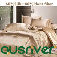 Genuine Silk Soft Satin Single/Double/Queen/KB Size Bed Quilt/Doona/Douvet Sets