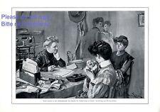 Centre de maternité allemand Imprimer 1910 par Werner zehmer mère enfant bébé