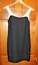 NWT--Banana Republic Black Shift Dress, White Grosgrain Straps, Sz 2, $130 MSRP