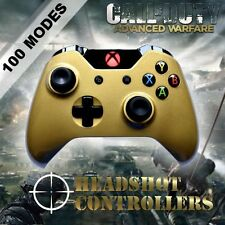 Xbox One/S Metallic Gold Arbiter 5 Rapid Fire Controller - COD BF 1 GOW RED LED