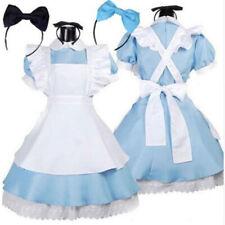 Halloween Party Girl Women Alice in Wonderland Costume Lolita Dress Maid Cosplay