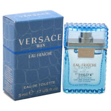 Versace Eau Fraiche Men Mini 0.17 oz 5 ml Eau De Toilette Dab-On Splash Nib