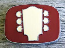 Red Guitar Head Music Vintage Belt Buckle