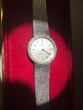 Señoras Omega 18 CT Diamante Oro Blanco Y Reloj Excelente Estado