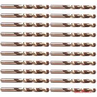 "20PCS 7/32"" Cobalt Drill Bit Set M35 HSS Jobber Length Twist Drill Bits Tools"