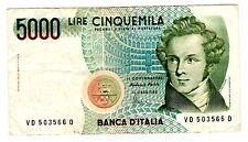 Italie ITALY ITALIA Billet 5000 LIRE 1985 P111 V. BELLINI   BON ETAT