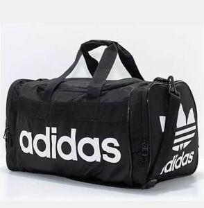 adidas Originals Unisex Santiago Duffel Bag  Black/White Gym Workout Bag,  003