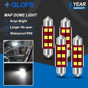 4PCS Erorr free Festoon 41MM 578 LED Light Bulb Dome Trunk Map Pure white Lamp