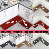 1/2PCS Kitchen Floor Carpet Non-Slip Area Rug Bathroom Door Mat Home Decor  t