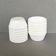 MINI White Cupcake Liners, White Mini Cupcake Wrappers, White Mini Baking Cups