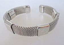 Women's Marie Claire Stainless Steel Mesh Cable bangle with Clover 7 Inches