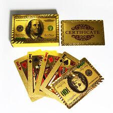 Goldfolie überzogen Poker Spielkarten Traditional Set