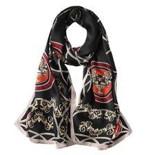 100% Silk Satin Women Scarf neckerchief Shawl large Wrap black gray red S246-012