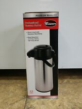 Winco 2.5 Liter Glass Lined Airpot Push Button