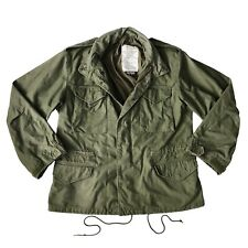 Vtg Alpha Industries Army Green Military Field Hooded Parka Jacket Men's Large