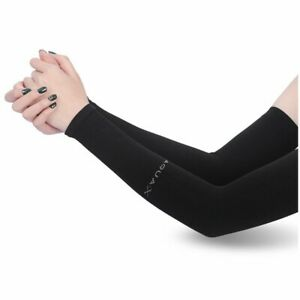1 Pair Outdoor Sports Arm Sleeves UV Sun Protection Breathable Arm Warmers Cover