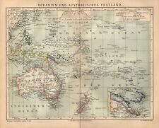 Oceanien und Australisches Festland Kolonien Papua  historische Landkarte 1885