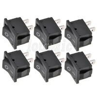 6 Pcs 2 Pin Snap-in On/Off Rocker Switch 250V 6A