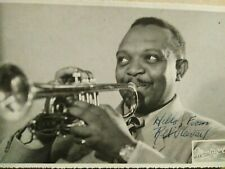 Jazz autographs Rex Stewart signed photo performing the cornet