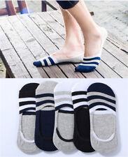 5 Paare/Los Unsichtbare Knöchel Baumwolle Socke Gestreiftes Muster Anti-Rutsch