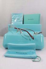 Tiffany & Co. TF 1106 6001 Silver/Burgundy New Authentic Eyeglasses 54mm w/Box