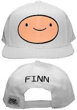 Adventure Time Finn Mens Snapback Hat Adjustable Flatbill Baseball Cap WHITE