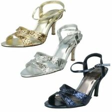Anne Michelle Buckle Sandals Heels for Women