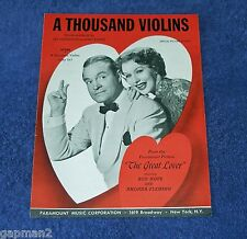 A Thousand Violins 1949 Sheet Music from The Great Lover Bob Hope Rhonda Fleming