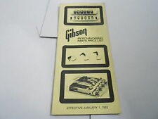 VINTAGE  MUSICAL INSTRUMENT CATALOG PRICE LIST - GIBSON GUITAR PARTS - JAN 1983