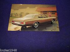 1972 FORD CUSTOM 500 Dealer promo post card VINTAGE ORIGINAL RETRO MAN CAVE