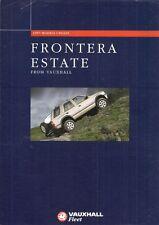 Vauxhall Frontera Estate Update 1997 UK Fleet Market Leaflet Sales Brochure