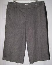 NWT ANN TAYLOR LOFT HERRINGBONE BLACK SEQUIN 14P STRIPED CAPRI CROP DRESS PANTS