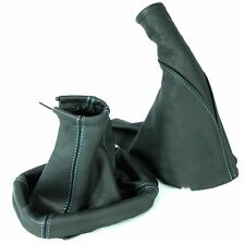 BLUE STITCH VAUXHALL CORSA C 2000-06 LEATHER GEAR SHIFT STICK GAITER HANDBRAKE