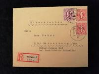 Deutschland Alliierte Besetzung Bizone 21.01.1946 - Brief Stuttgart - Wasserburg