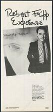 1979 Robert Fripp photo Exposure album release vintage print ad