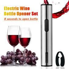 Automatic Electric Wine Bottle Opener Corkscrew Cork Cordless Set + Foil Cutter
