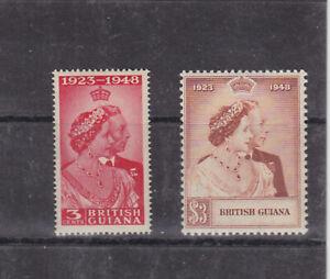 guiana 1948 SG 322/3,Sc 244/5,silver wedding,set MNH    s1366