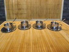 4 Espresso oder Mocca - Tassen und Untertassen wmf nachlass inkl. löffel set