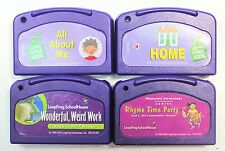 Lot of 4 Leap Pad Leapfrog Game Cartridges All About Me, Hone, Rhyme Time Party