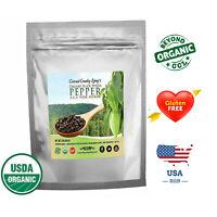 Organic Black Peppercorns Whole, Premium Organic Black Pepper for Grinder