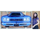 Neon Sign in steel Can 5' Plymouth Road Runner Grille 1969 Roadrunner Lamp light