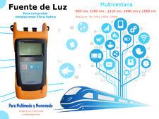 Fuente de Luz Multiventana : 850 , 1300, 1310, 1490 y 1550 nm.  ICT & FTTH
