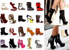 Lot 30 Pairs Wholesale Women High Heels Platform Pumps Sandals Boots Shoes