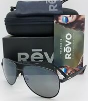 NEW Revo Shaw sunglasses RE 5021 01 GY 61mm Black Grey Polarized Aviator RE5021