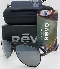 d0be043d45 NEW Revo Shaw sunglasses RE 5021 01 GY 61mm Black Grey Polarized Aviator  RE5021