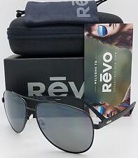 6e6bc58bbfc57 NEW Revo Shaw sunglasses RE 5021 01 GY 61mm Black Grey Polarized Aviator  RE5021