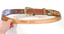 Koleaco Vintage Handtooled Leather Western Rockabilly Belt USA Size 32
