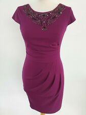 LIPSY SIZE UK 10 EUR 36 FUSHIA BEAD DETAIL DRESS