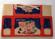 Vintage Candy Container Cardboard Hanging Box New Old Stock
